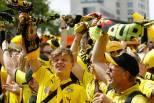 Adeptos do Borussia Dortmund em festa