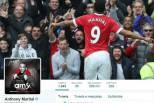 Anthony Martial quer o 9 (Twitter)