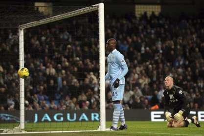 Mario Balotelli no Manchester City-Norwich
