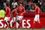 Benfica festeja golo contra P. Ferreira