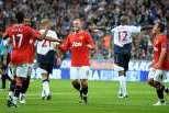 Manchester United festeja golo com o Bolton