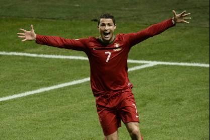 Cristiano Ronaldo festeja na Seleção