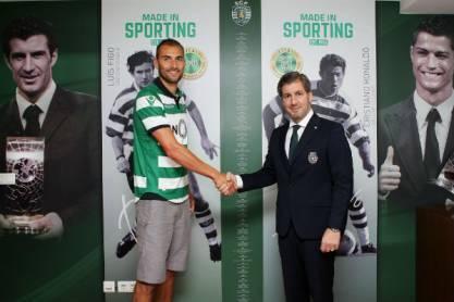Bas Dost com Bruno de Carvalho