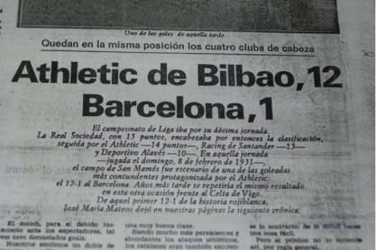 Goleadas sofridas pelo Barcelona