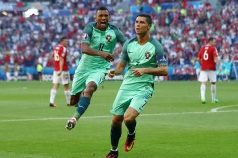 Cristiano Ronaldo e Nani festejam golo à Hungria (Euro 2016) 7fb2ec86cb9ac