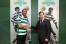 Hernán Barcos (Sporting) foto de assinatura com presidente