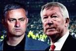 José Mourinho e Alex Ferguson (Montagem em grande plano)