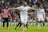 Karim Benzema (Real Madrid) festeja golo ao At. Bilbao