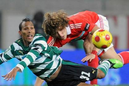 Liedson vs David Luiz (Sporting-Benfica)