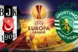 Liga Europa (Besiktas - Sporting CP) montagem logos