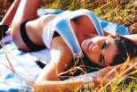 A modelo Pamela David a apoiar a Argentina