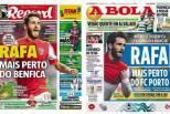 Capas de jornais com Rafa