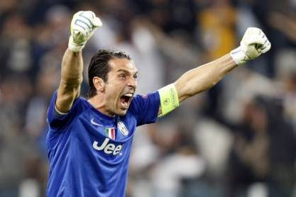 Buffon festeja pela Itália