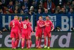 Cristiano Ronaldo festeja golo com colegas no Real Madrid (2015)