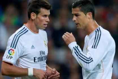 Cristiano Ronaldo com Gareth Bale