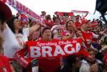 Adeptos Braga na rua