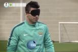 Vídeo: Agüero de olhos vendados