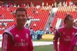 Vídeo: Cristiano Ronaldo sorri em treino