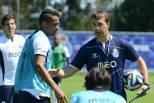 Julen Lopetegui orienta treino do FC Porto, 2014/15