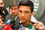 Fredy Montero conversa com jornalistas (Sporting)