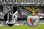 Guimarães - Benfica (Logos dos clubes com fundo do Estádio Afonso Henriques)