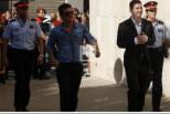 Messi chega a tribunal, setembro 2013