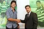 Tobias Figueiredo com Bruno de Carvalho (Sporting)