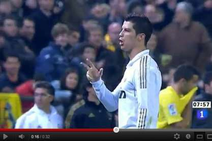 Vídeo do Youtube: CR7 faz gesto de roubo