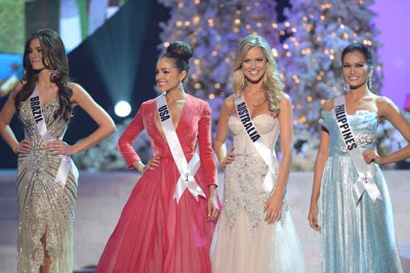 Miss Universo 2012: quatro finalistas